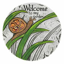 "Buy *18543U - Welcome To My Garden Snail 10"" Cement Stepping Stone"