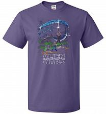 Buy Alien Wars Unisex T-Shirt Pop Culture Graphic Tee (5XL/Purple) Humor Funny Nerdy Geek