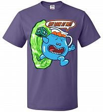 Buy Meseeks Man Unisex T-Shirt Pop Culture Graphic Tee (5XL/Purple) Humor Funny Nerdy Gee