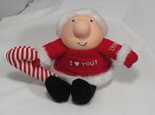 Buy Vintage ZIGGY Doll Plush Toy I Love You Christmas Santa Candy Cane