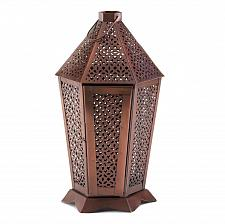 Buy *17366U - Byzantine Bronze Color Iron Pillar Candle Lantern