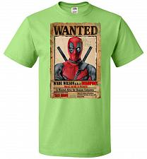 Buy Deadpool Wanted Poster Youth Unisex T-Shirt Pop Culture Graphic Tee (Youth L/Kiwi) Hu