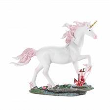 Buy *17521U - Beautiful White Unicorn Pink Crystals Figurine Statue