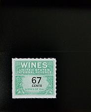 Buy 1951-54 67c U.S. Internal Revenue Cordial & Wine, Green Scott RE192 Mint F/VF NH