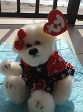 Buy usa teddy bear with dress red white blue stuffed animal