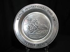 Buy Pebble Beach Pewter Plate World Invitational Pro Am Golf Wilton USA 10 7/8 inch