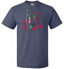 Buy Phantom Of The Empire Fett Unisex T-Shirt Pop Culture Graphic Tee (XL/Denim) Humor Fu