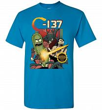 Buy C-137 Schwifty Squad Unisex T-Shirt Pop Culture Graphic Tee (M/Sapphire) Humor Funny
