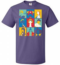 Buy Popiece Art Unisex T-Shirt Pop Culture Graphic Tee (XL/Purple) Humor Funny Nerdy Geek