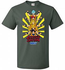 Buy Altered Saiyan Unisex T-Shirt Pop Culture Graphic Tee (M/Forest Green) Humor Funny Ne