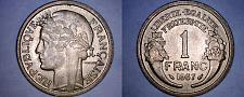 Buy 1937 French 1 Franc World Coin - France