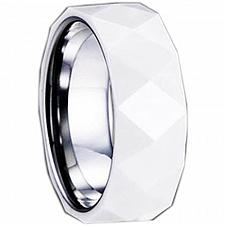 Buy coi Jewelry Tungsten Carbide Ring With Ceramic - TG1280(Size:US12)