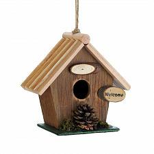 Buy *18414U - Pine Cone Rustic Brown Wood Birdhouse
