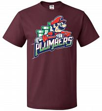Buy Plumbers Unisex T-Shirt Pop Culture Graphic Tee (2XL/Maroon) Humor Funny Nerdy Geeky