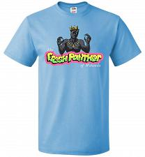 Buy Fresh Panther Unisex T-Shirt Pop Culture Graphic Tee (6XL/Aquatic Blue) Humor Funny N