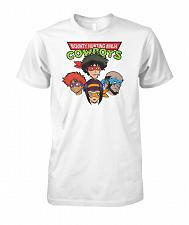 Buy Bounty Hunting Ninja Cowboys Unisex T-Shirt Pop Culture Graphic Tee (L/White) Humor F