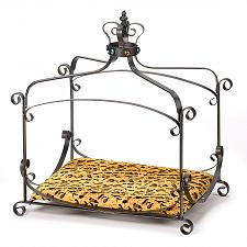 Buy 38683U - Royal Splendor Wrought Iron Pet Bed Jeweled Crown Fabric Cushion
