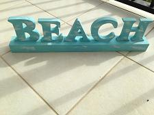 Buy turquoise wooden beach art home decor free standing sign art