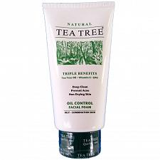 Buy Tea Tree Natural Oil Control Facial Foam Cleanser 140ml