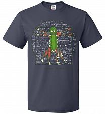 Buy Vitruvian Pickle Rick Unisex T-Shirt Pop Culture Graphic Tee (L/J Navy) Humor Funny N