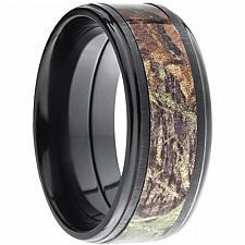 Buy coi Jewelry Black Titanium Camo Ring - JT2698(Size:US3/13)