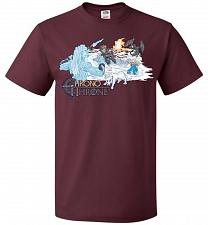 Buy Chrono Throne Unisex T-Shirt Pop Culture Graphic Tee (5XL/Maroon) Humor Funny Nerdy G