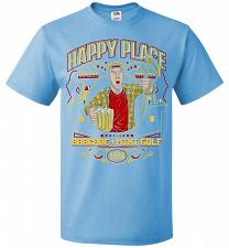 Buy Gilmore's Happy Place Adult Unisex T-Shirt Pop Culture Graphic Tee (2XL/Aquatic Blue)
