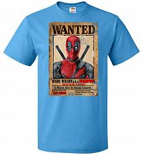 Buy Deadpool Wanted Poster Youth Unisex T-Shirt Pop Culture Graphic Tee (Youth S/Pacific