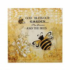 Buy *17433U - Bumble Bee Postcard Backdrop 3-D Iron Wall Art