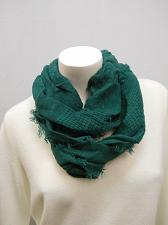 Buy Womens SCARF Lofty Infinity FADED GLORY Solid Green All Occasion Size 64X 21