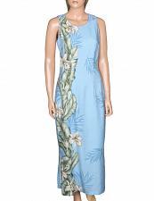 Buy Ladies Blue Orchid Panel Maxi Long Cocktail Hawaiian Dress #HH-119845-OP sz XL