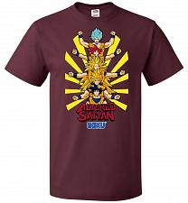 Buy Altered Saiyan Unisex T-Shirt Pop Culture Graphic Tee (4XL/Maroon) Humor Funny Nerdy