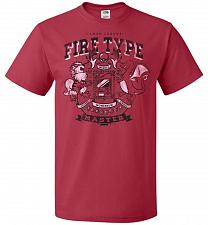 Buy Fire Type Champ Pokemon Unisex T-Shirt Pop Culture Graphic Tee (S/True Red) Humor Fun