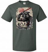 Buy Dark Samurai Unisex T-Shirt Pop Culture Graphic Tee (3XL/Forest Green) Humor Funny Ne
