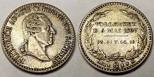 Buy 1827-S German States Saxony-Albertine 1/6 Thaler World Silver Coin