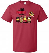 Buy The Big Minion Theory Unisex T-Shirt Pop Culture Graphic Tee (4XL/True Red) Humor Fun
