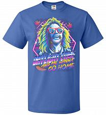Buy Beetlejuice 80s Nostalgia Adult Unisex T-Shirt Pop Culture Graphic Tee (L/Royal) Humo