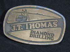 Buy Vintage Belt Buckle Heavy Equipment JT Thomas Diamond Drilling Solid Brass