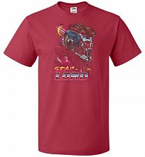 Buy Retro Star Lord Unisex T-Shirt Pop Culture Graphic Tee (6XL/True Red) Humor Funny Ner