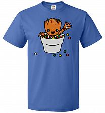 Buy A Pot Full Of Candies Unisex T-Shirt Pop Culture Graphic Tee (M/Royal) Humor Funny Ne