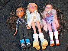Buy Lot of 3 BRATZ Dolls with some Clothes and Shoes Boots