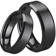 Buy coi Jewelry Black Tungsten Carbide Couple Wedding Band Ring
