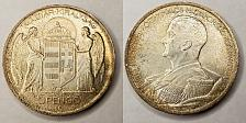 Buy 1939-BP Hungarian 5 Pengo World Silver Coin - Hungary
