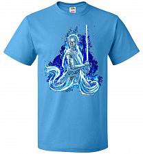 Buy Awaken Unisex T-Shirt Pop Culture Graphic Tee (L/Pacific Blue) Humor Funny Nerdy Geek
