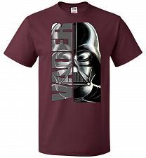 Buy Vader Youth Unisex T-Shirt Pop Culture Graphic Tee (Youth L/Maroon) Humor Funny Nerdy