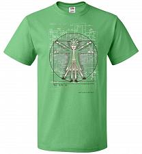 Buy Vitruvian Rick Unisex T-Shirt Pop Culture Graphic Tee (2XL/Kelly) Humor Funny Nerdy G