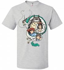 Buy Ghibli Unisex T-Shirt Pop Culture Graphic Tee (S/Ash) Humor Funny Nerdy Geeky Shirt