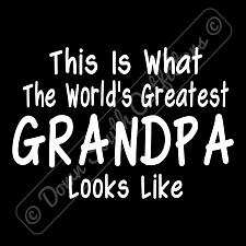 Buy Worlds Greatest Grandpa T Shirt Funny Birthday Fathers Day Gift (16 Tee Colors)