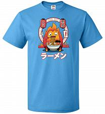 Buy Fire Demon Ramen Unisex T-Shirts Pop Culture Graphic Tee (L/Pacific Blue) Humor Funny