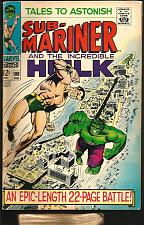 Buy Tales To Astonish #100 Fine+ Submariner & Hulk Marvel Comics Fine Stan Lee 1967